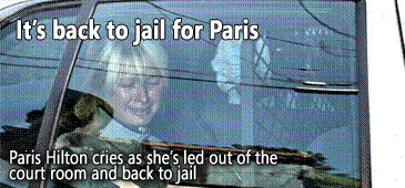 Paris cires her way to jail.