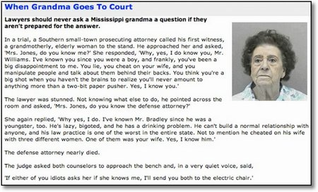 Grandma goes to court